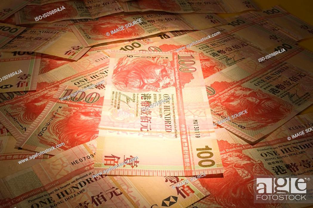 Stock Photo: Hong kong banknotes.
