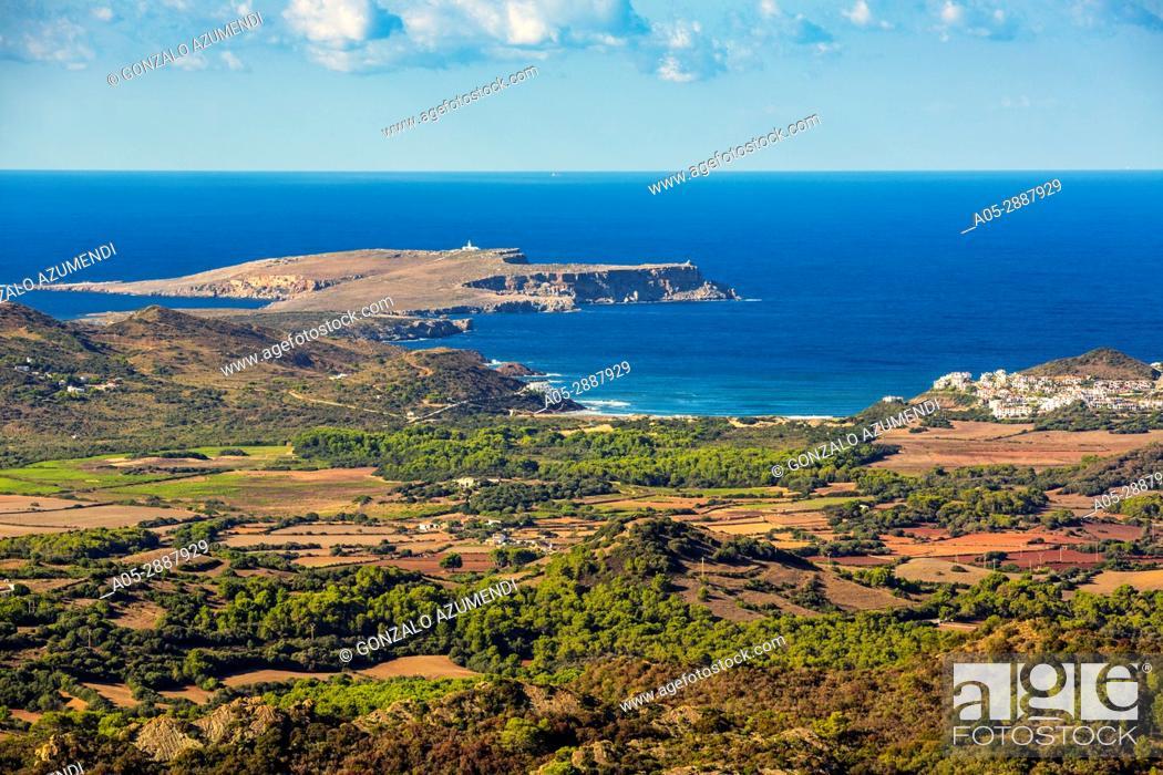Imagen: Cavalleria Cape. View from Toro Mount. Es Mercadal Municipality. Minorca Island. Balearic Islands. Spain.