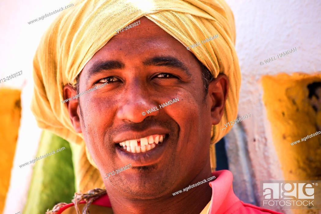 Imagen: Africa, Egypt, Gharb Sohel, nubian man.