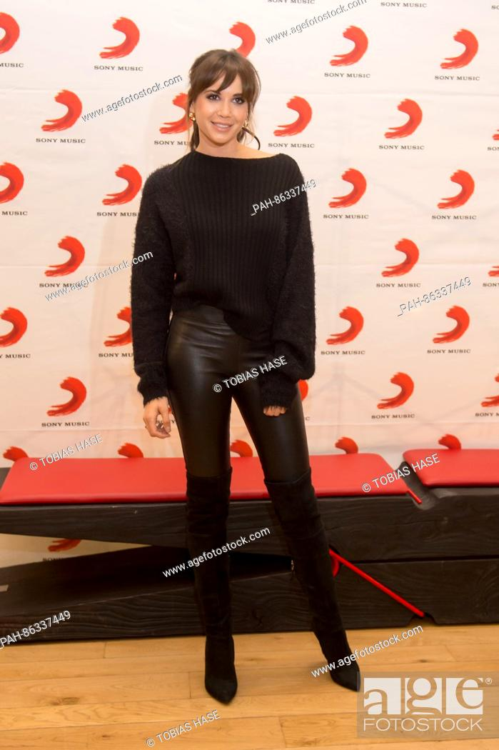 Singer Mandy Grace Capristo poses prior to her performance at the ...