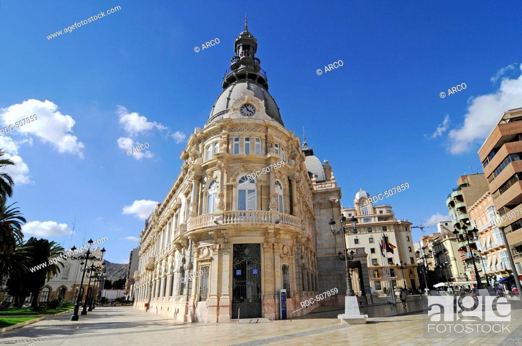 Photo de stock: Town Hall, Town Hall Square, Cartagena, Murcia Region, Spain, Europe.