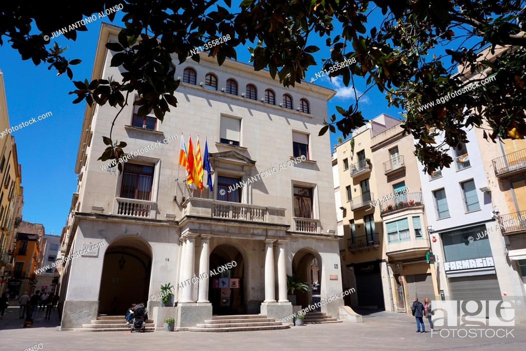 Stock Photo: Town Hall Building. City of Figueres, Girona, Catalonia, Spain, Europe.
