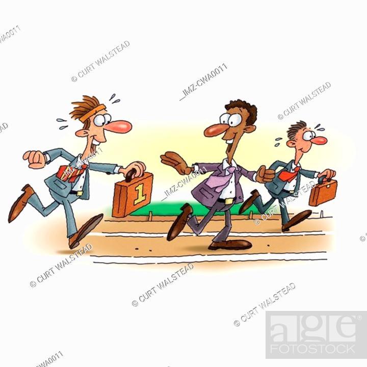 Stock Photo: An illustration of a businessman baton race.