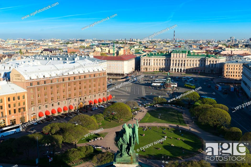 Stock Photo: Saint Petersburg Aerial View.