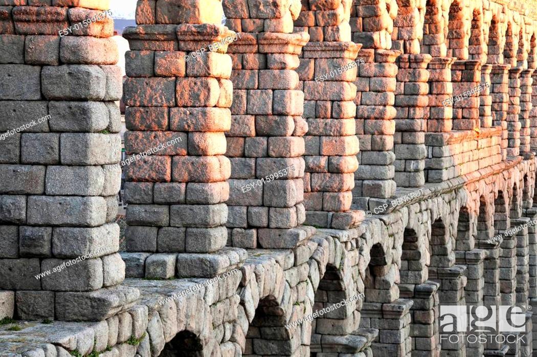 Stock Photo: Aqueduct in Segovia.