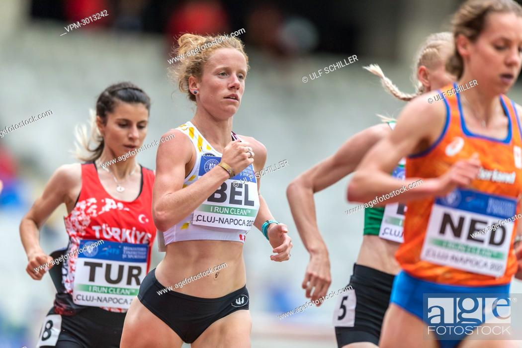 Stock Photo: Belgian Hanne Verbruggen pictured in action during the women 5000m race, at the second day of the European Athletics Team Championships First League athletics.