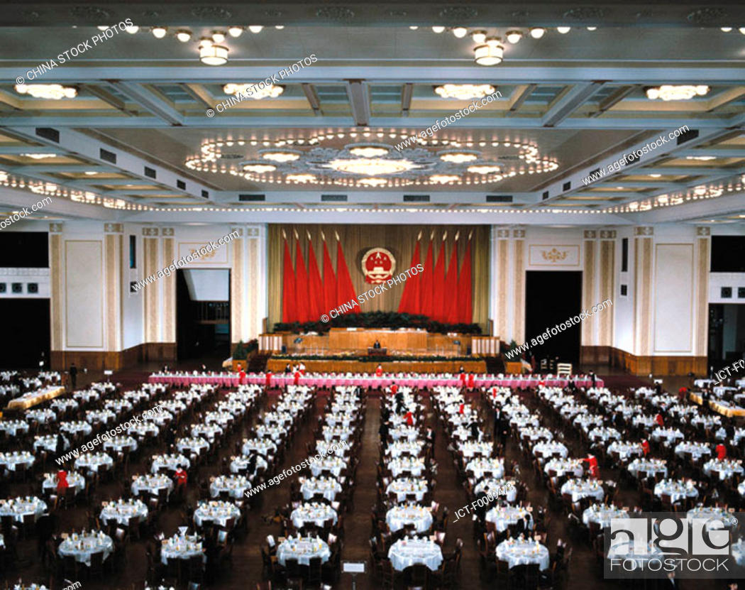 Stock Photo: China, Beijing, Great Hall Of The People.