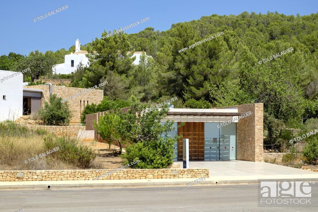 Stock Photo: Centro de Interpretación es Amunts, Sant Llorenç, termino de Sant Joan de Labritja, Ibiza, balearic islands, Spain.