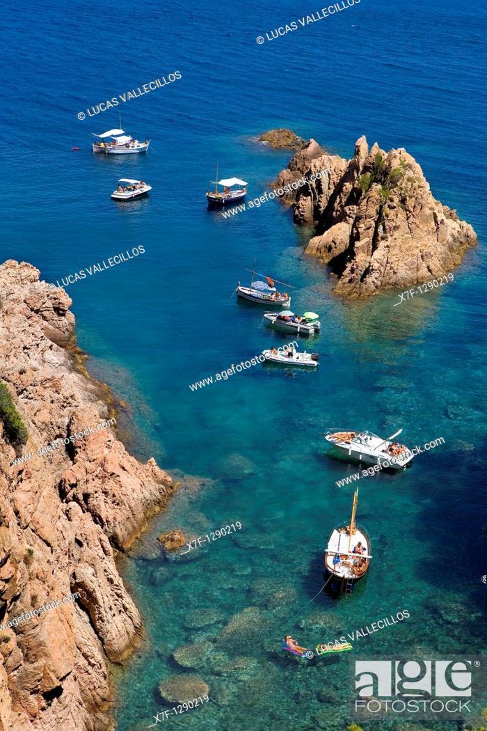 Stock Photo: Aigua Xelida, near Tamariu. Costa Brava, Girona province, Catalonia, Spain.