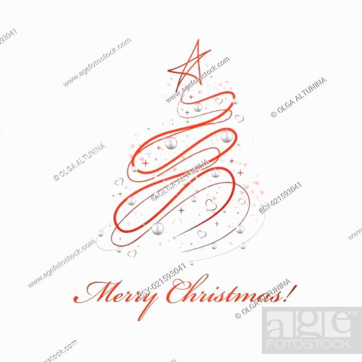 Stock Vector: Christmas Design Tree.