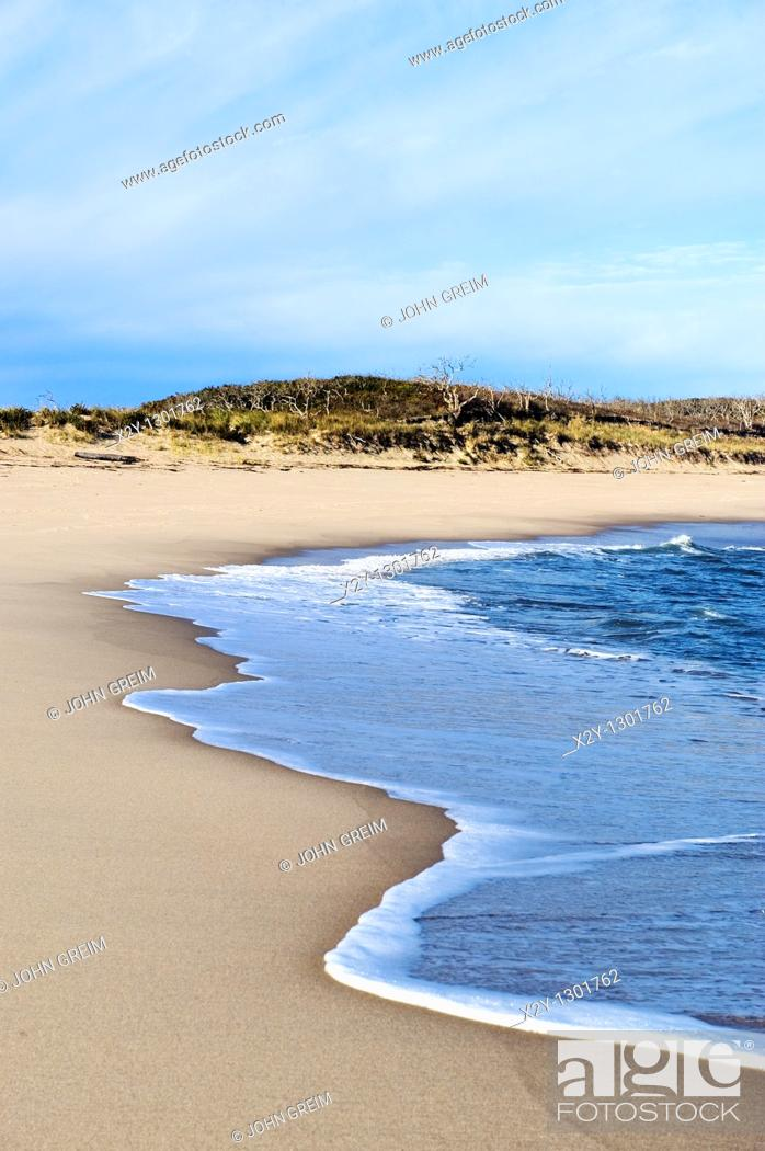 Stock Photo: Head of Meadow Beach, Truro, Cape Cod, MA.