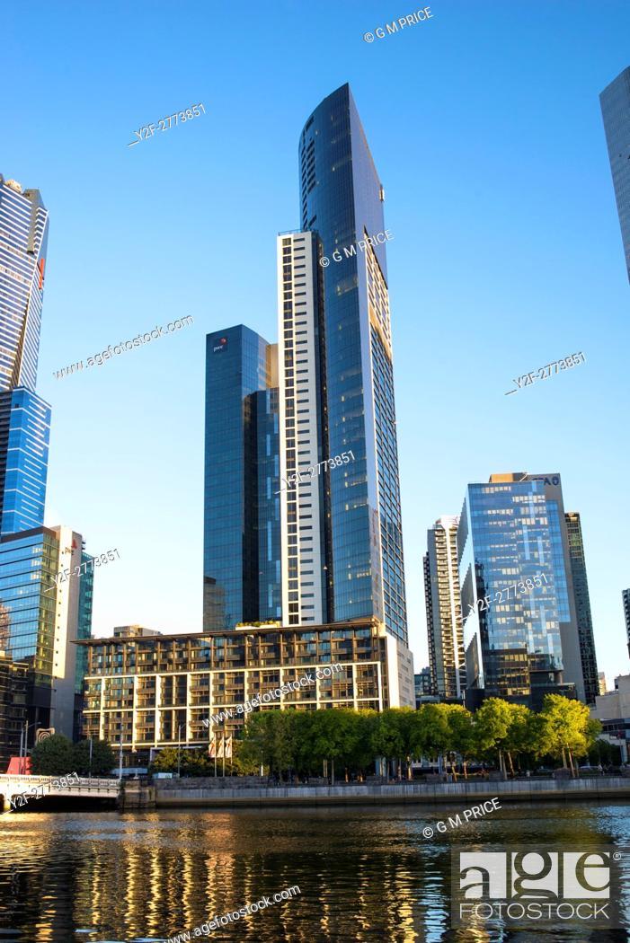 Stock Photo: Southbank skyline, Melbourne.
