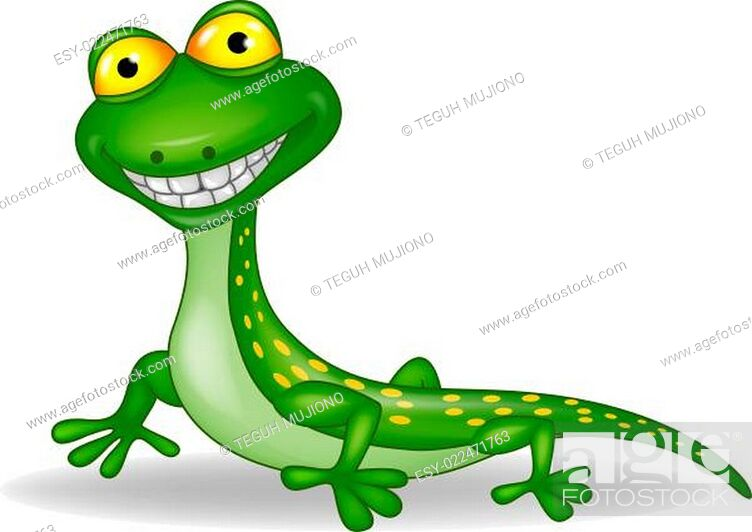 Stock Photo: Funny lizard cartoon.