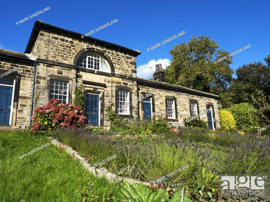 Imagen: Former Almshouses at Leathley in the Washburn Valley North Yorkshire England.