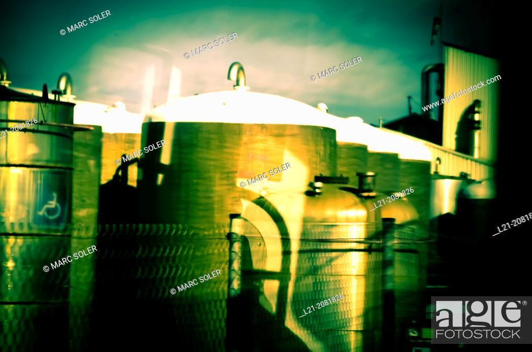 Stock Photo: Factory. Barcelona, Catalonia, Spain.