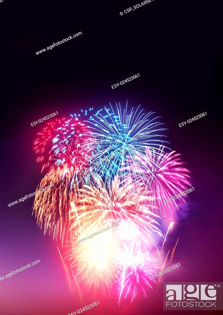 Stock Photo: Fireworks Party.