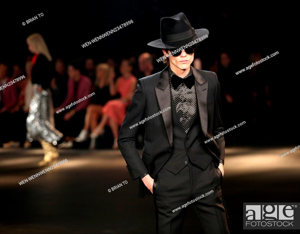 1b20c0a4 Stock Photo - Saint Laurent at Hollywood Palladium - Fashion Show Featuring:  Model Where: Los Angeles, California, United States When: 10 Feb 2016  Credit: ...