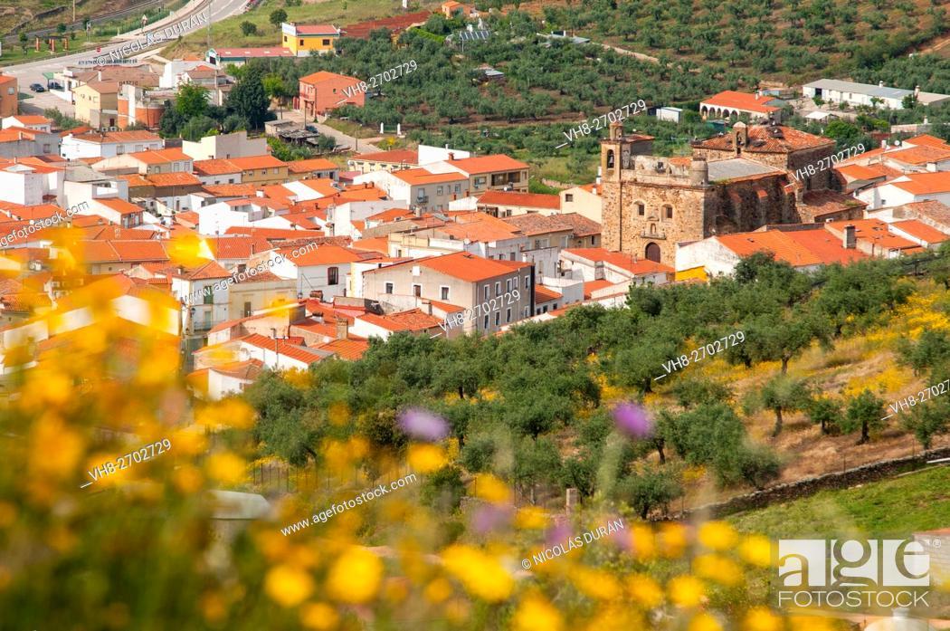 Stock Photo: Aliseda. Sierra de San Pedro. Cáceres province. Extremadura. Spain.