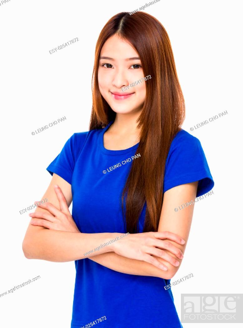 Photo de stock: Beautiful Asian girl.