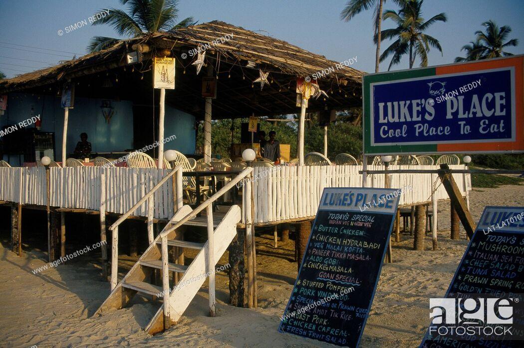 Beach Hut Restaurant Cafe On Stilts Sign