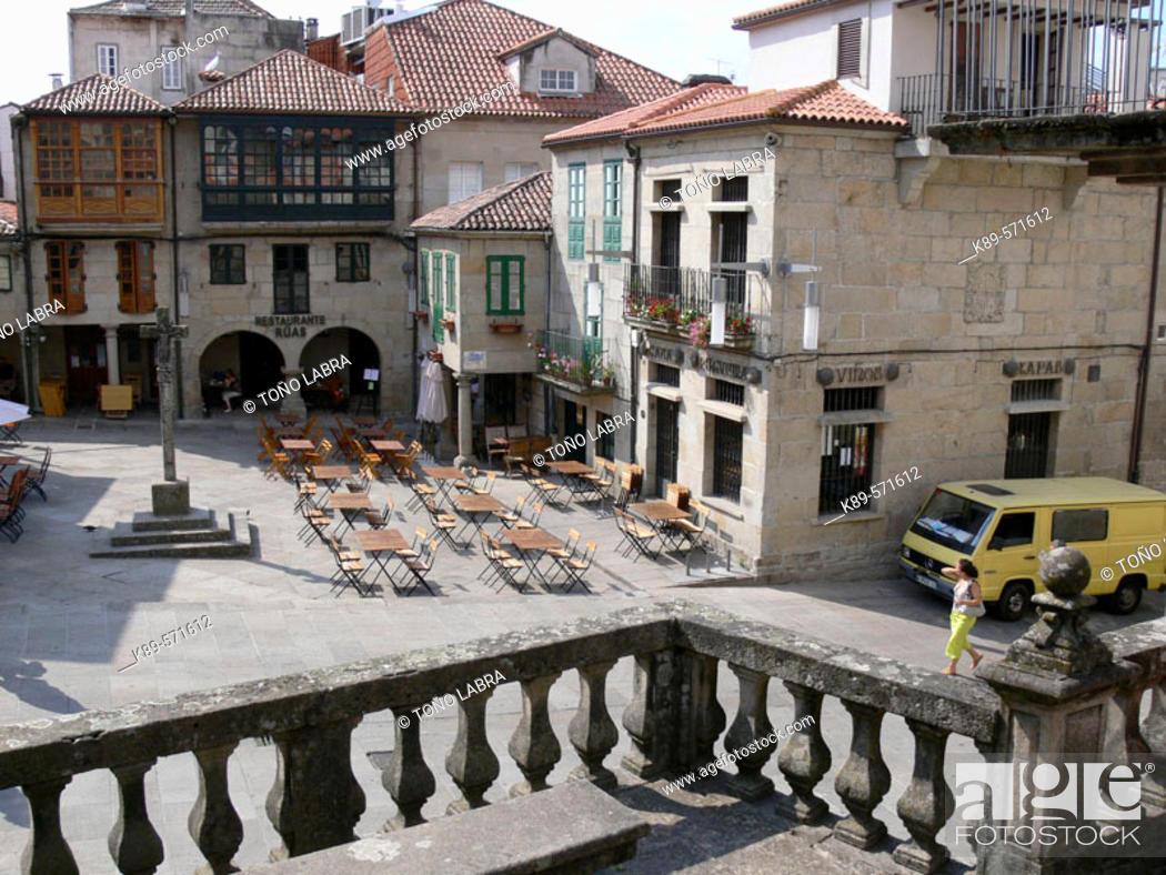 Stock Photo: Praza da Leña, Pontevedra. Galicia, Spain.