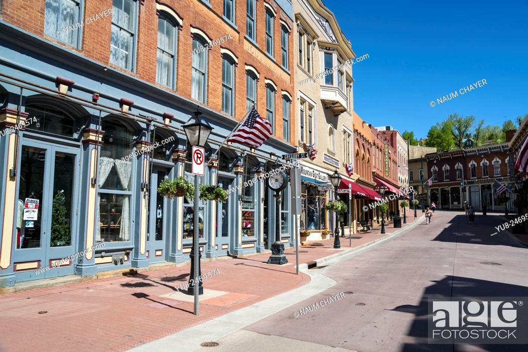 Stock Photo: Old street, Central City, Colorado, USA, North America, United States.