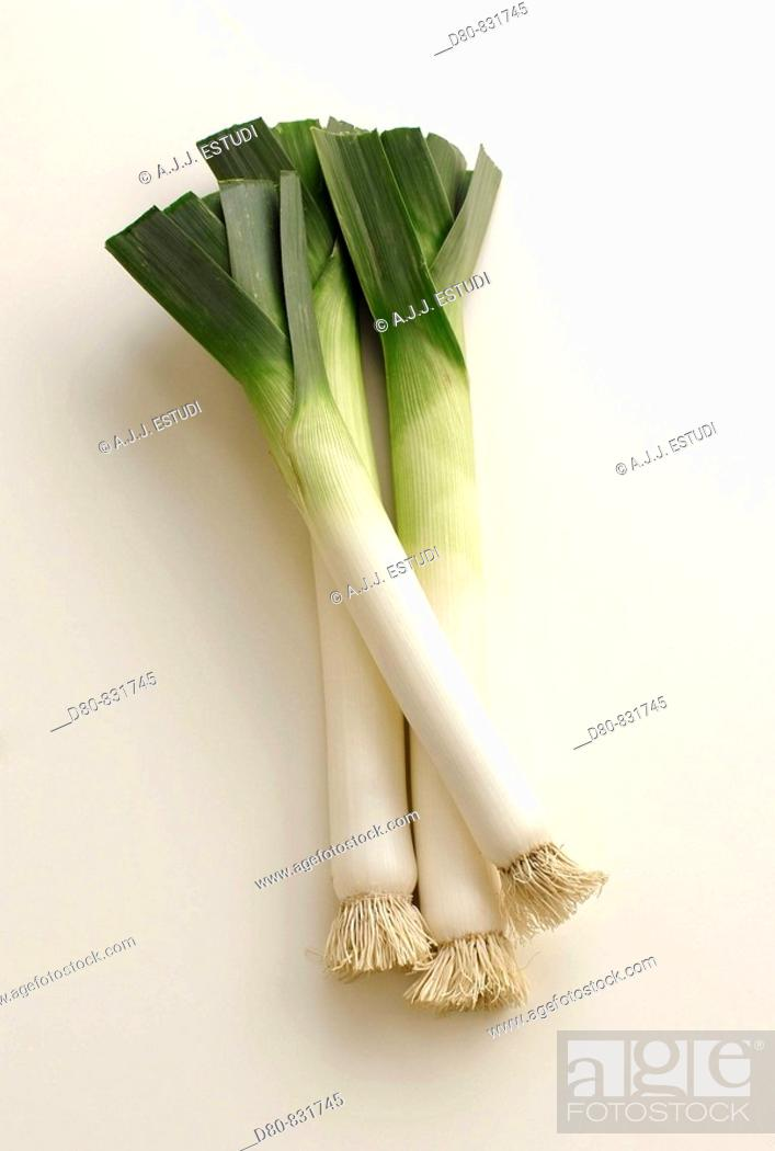 Stock Photo: Leeks.
