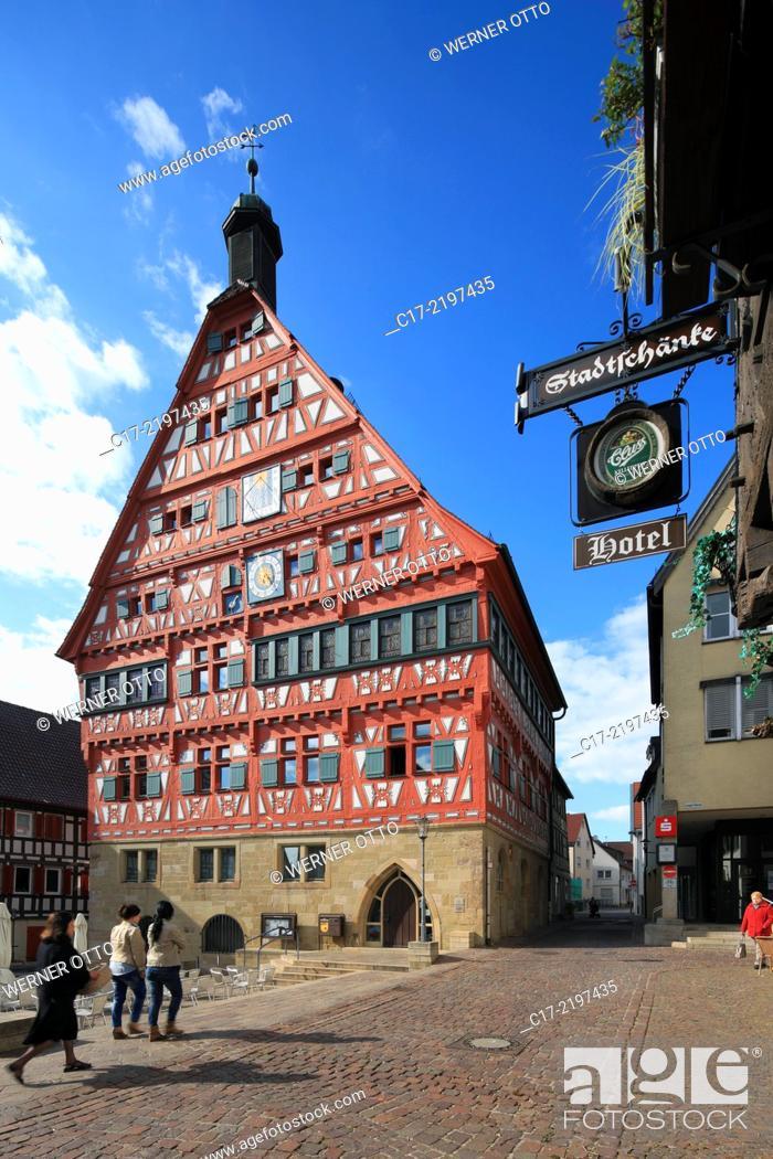 Germany, Grossbottwar, Bottwar, Bottwar Valley, Swabian Franconian ...
