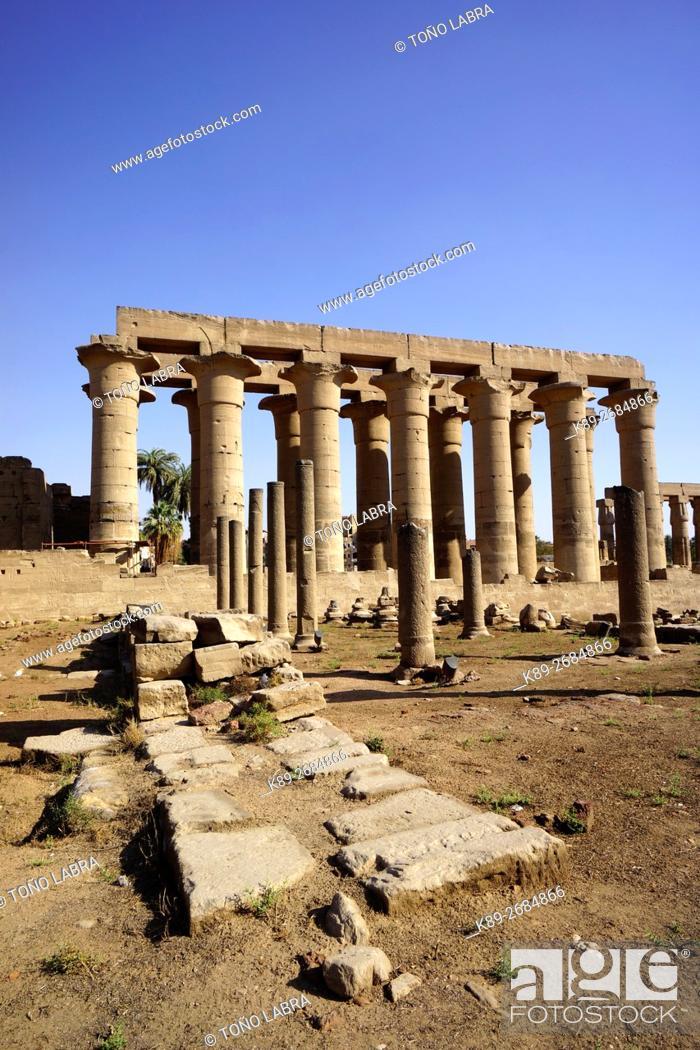 Imagen: Luxor Temple. Luxor. Upper Egypt.
