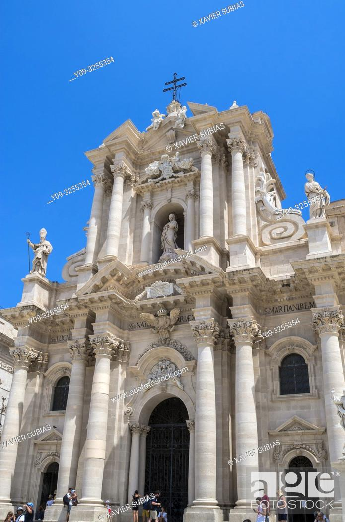 Stock Photo: Cathedral of Syracuse, Syracuse, Sicily, Italy.