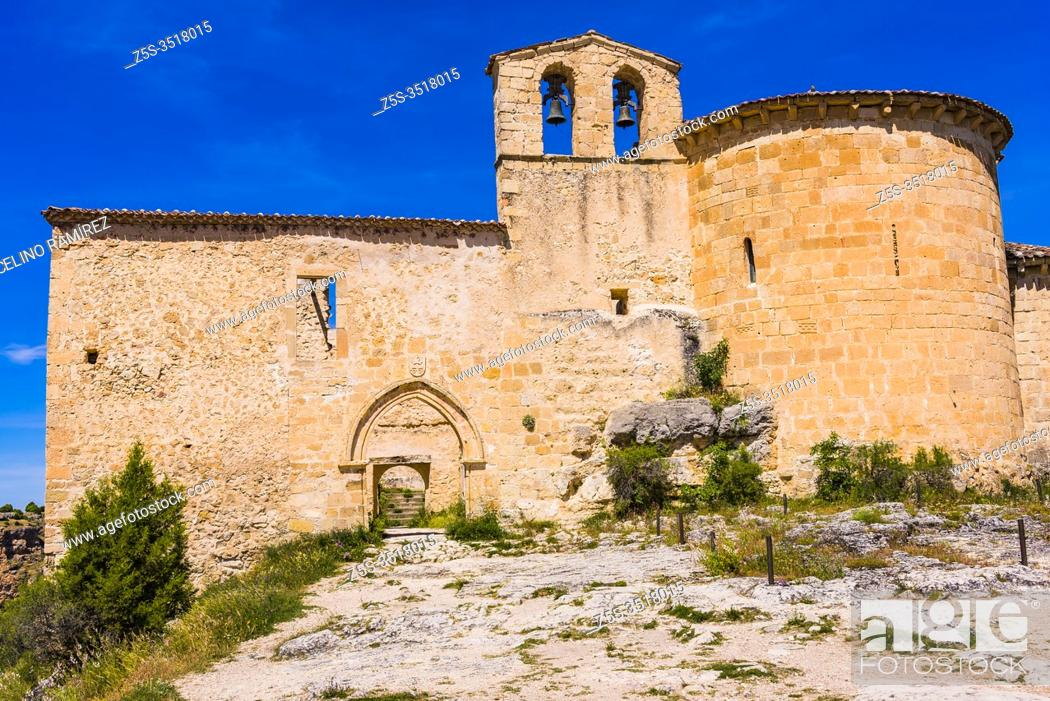 Stock Photo: The priory of San Frutos, today known as the hermitage of San Frutos, is the remains of an old monastic complex located in the province of Segovia and belonging.