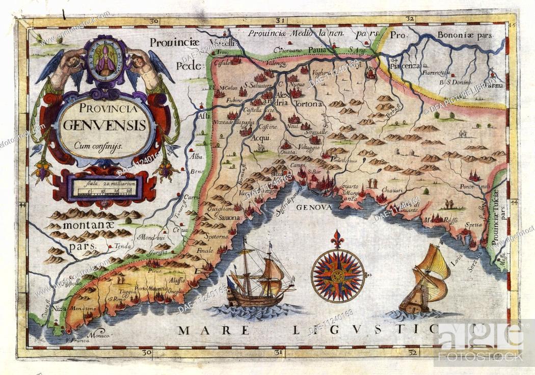 Cartography Italy 17th century The province of Genoa Stock Photo