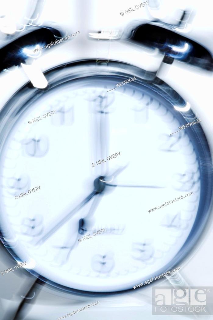 Stock Photo: Alarm clock ringing.