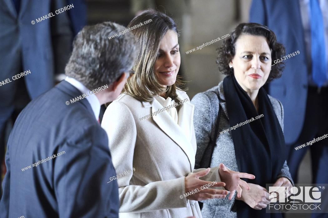 Stock Photo: Queen Letizia of Spain attends the commemorating the 40th anniversary of the previous National Employment Institute, current Public Employment Service State at.