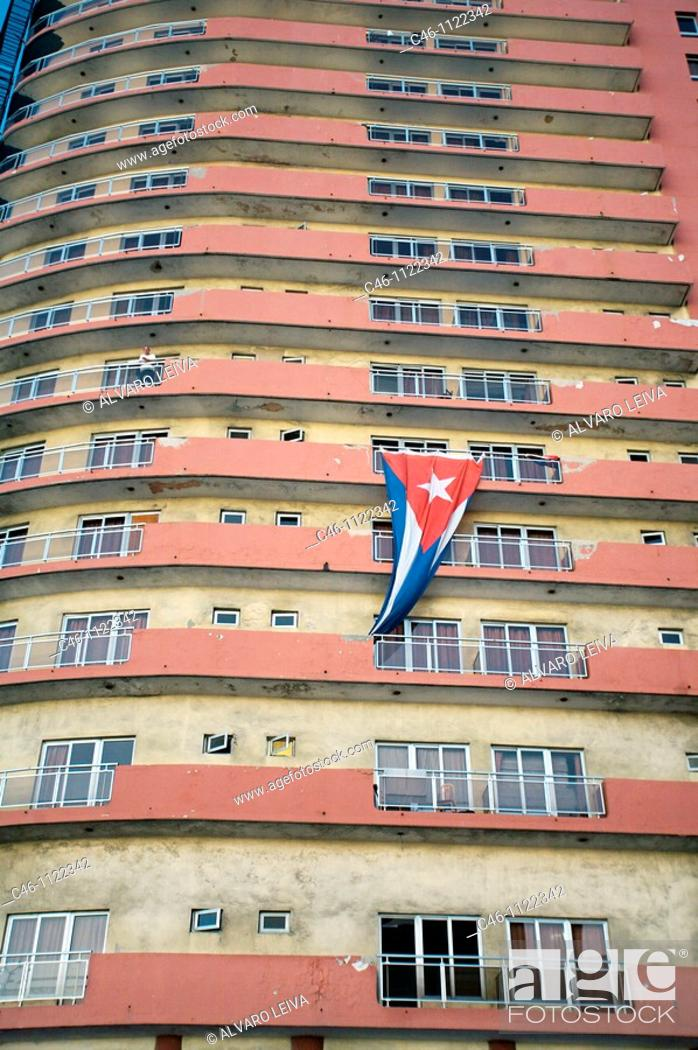 Stock Photo: Hotel Deauville.The Malecon sea front boulevard. La Havana. Cuba.