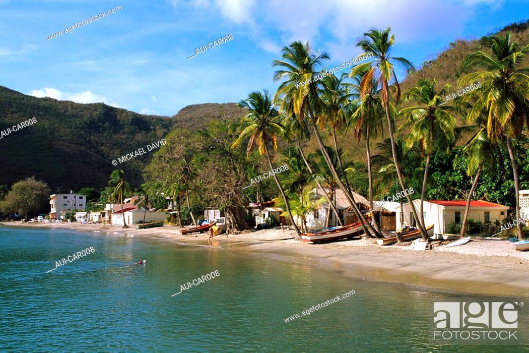 Stock Photo: Caribbean - Martinique - Anse d'Arlet - Grande Anse.