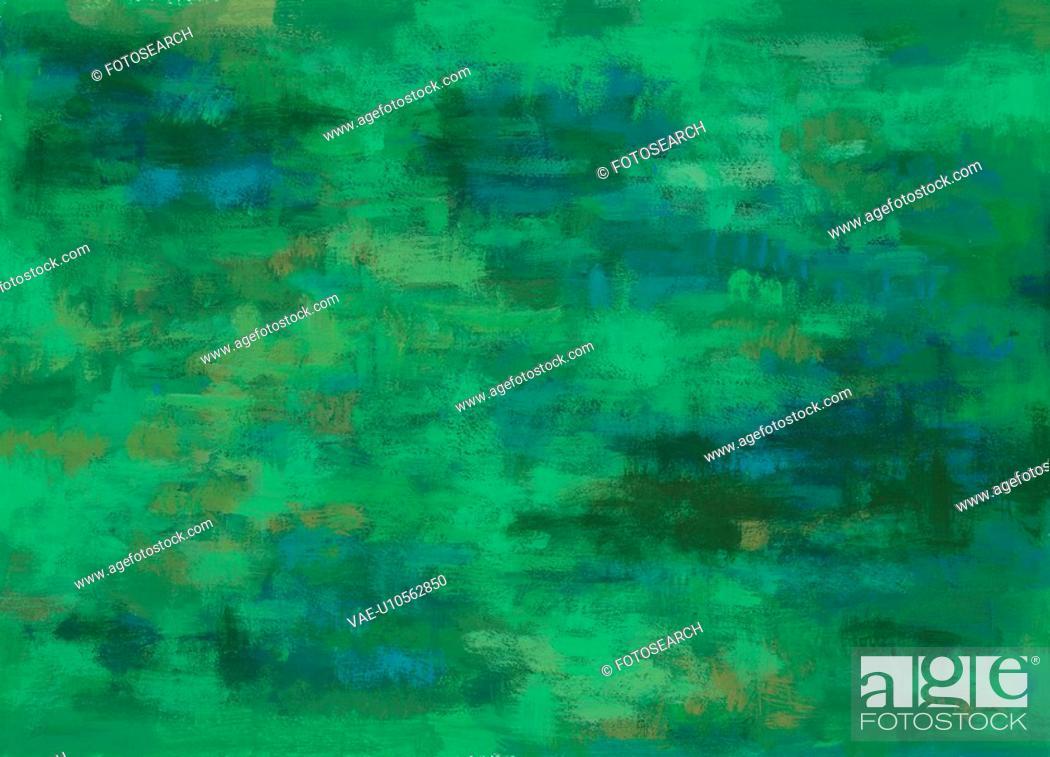 Stock Photo: design, Orientalpainting, grove, green, background, tradition.