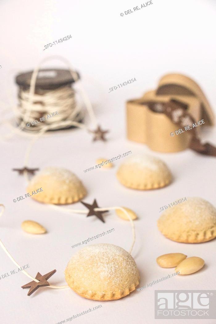 Bocconotti Abruzzesi Italian Christmas Biscuits Stock Photo