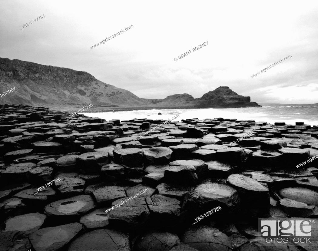 Stock Photo: The Giant's Causeway, Northern Ireland.