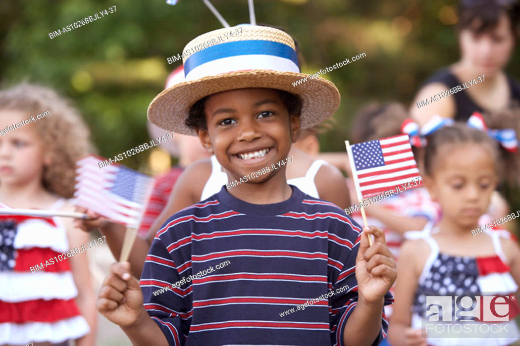 Stock Photo: Children at Fourth of July parade.