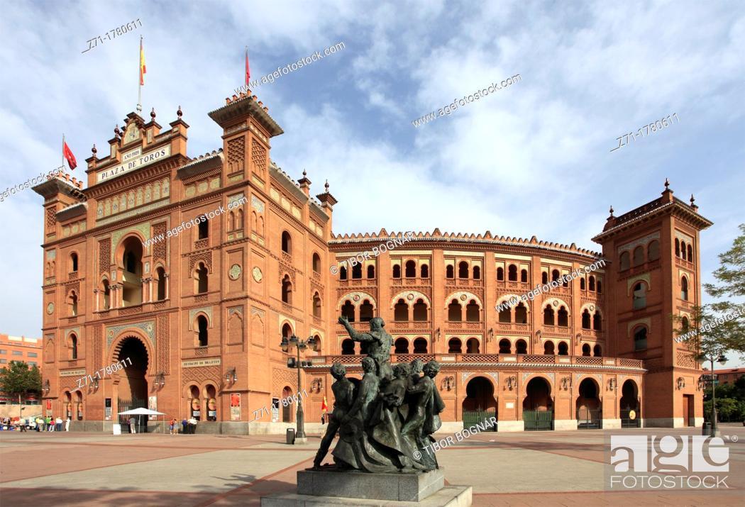 Spain Madrid Plaza De Toros Monumental De Las Ventas Bullfight