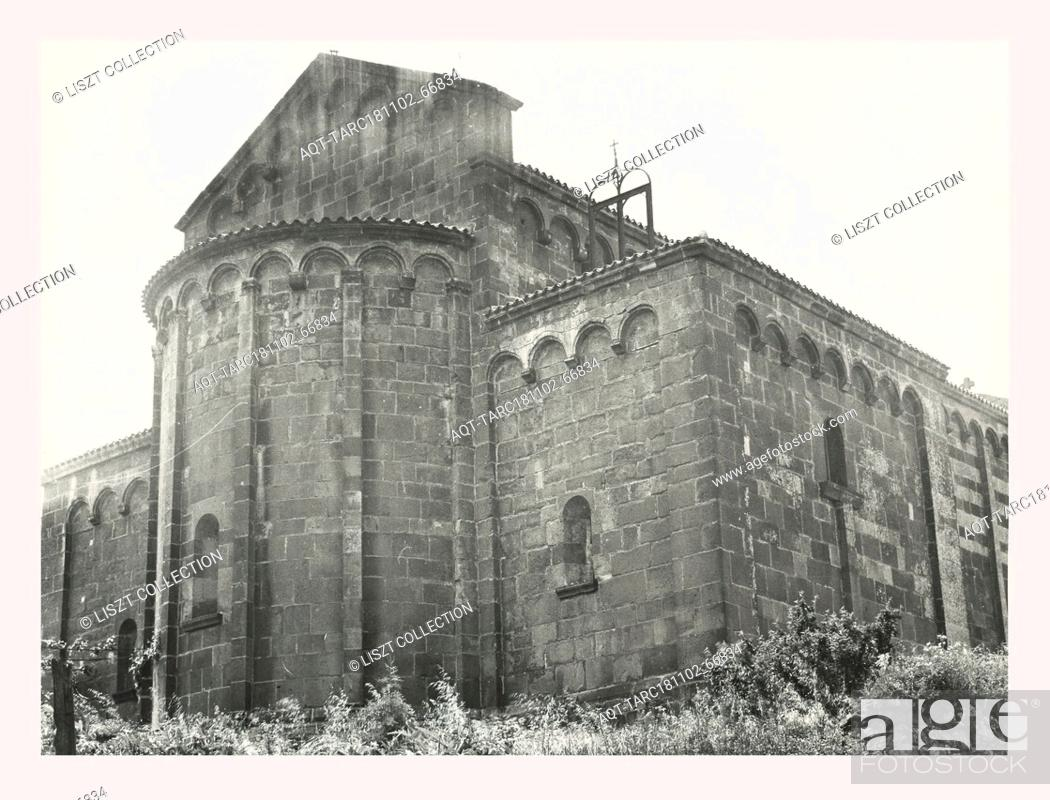 Stock Photo: Sardinia Nuoro Ottana S. Nicola, this is my Italy, the italian country of visual history, Medieval Romanesque architecture 12th century in black and violet.