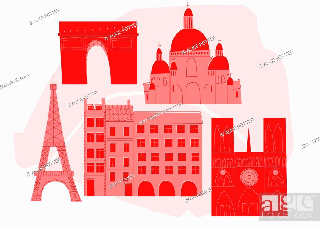 Photo de stock: Historical Paris landmarks.