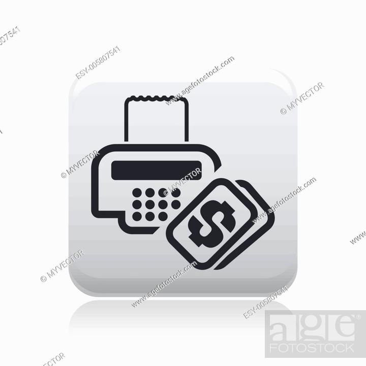 Stock Vector: Vector illustration of isolated cash icon.
