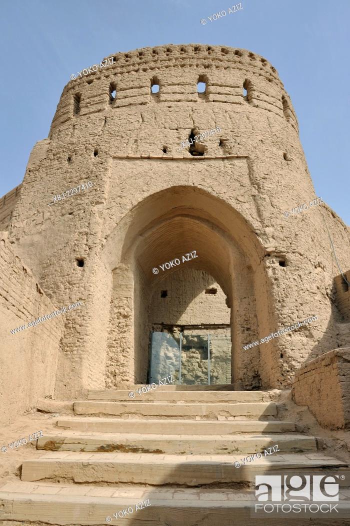 Stock Photo: Iran, Meybod, Narin Qal'eh castle.