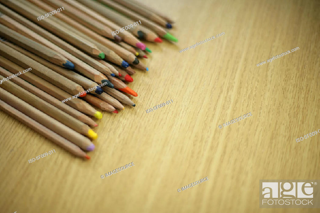 Stock Photo: Coloured pencils.