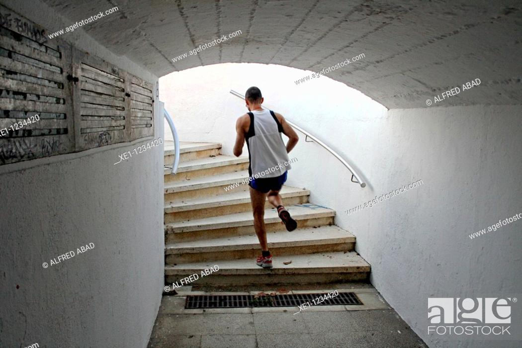 Stock Photo: sports, tunnel, Canet de Mar, Catalonia, Spain.