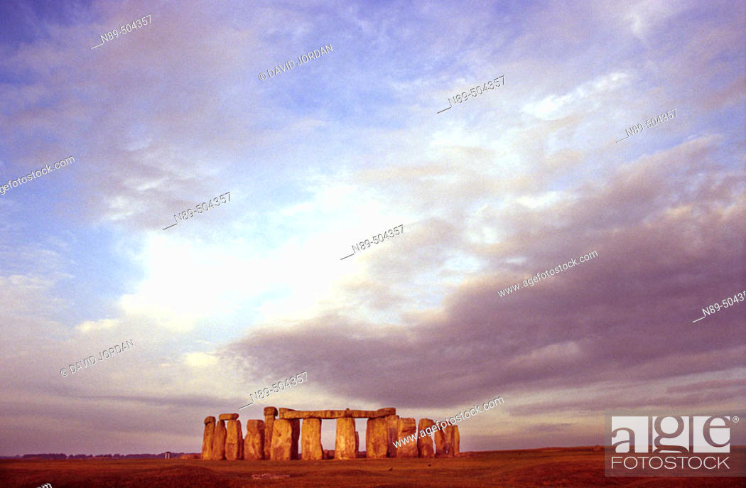 Stock Photo: Sunset. Stonehenge. Amesbury (English county of Wiltshire, Salisbury), England, UK.
