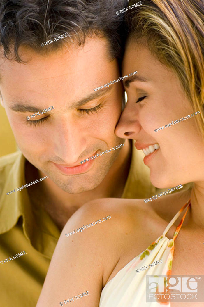 Stock Photo: Close up of couple hugging.