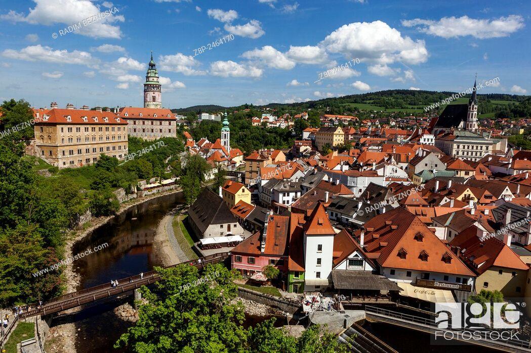 Stock Photo: Cesky Krumlov, UNESCO heritage world site, medieval town, Czech Republic.